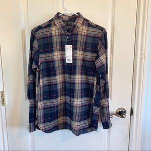 (NWT) Uniqlo | Plaid Flannel Long Sleeve Shirt